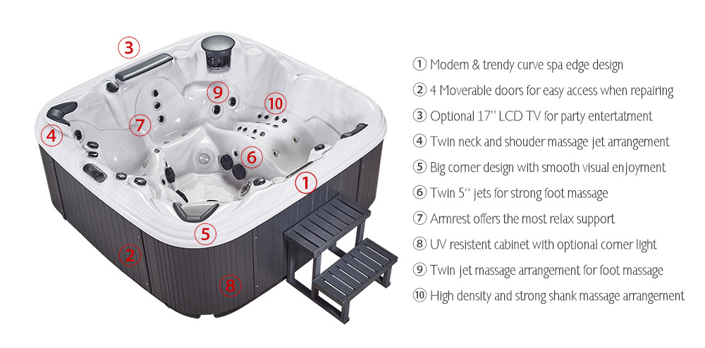 JOYSPA Spas is your source for best hot tubs, spas, portable spa parts and accessories. We design our spas with the goal - make your life better.